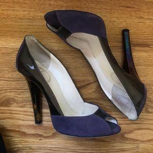 Emilio Pucci peep toe pumps, 6.5